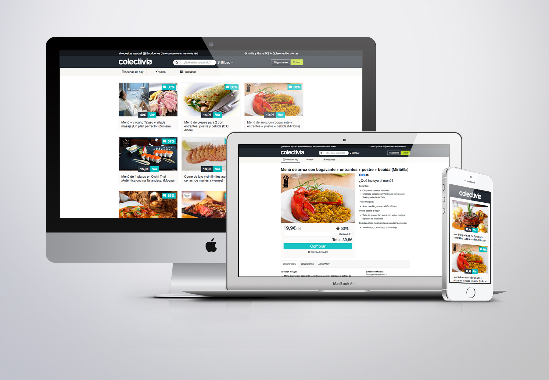 diseño pagina web newsletter banners colectivia